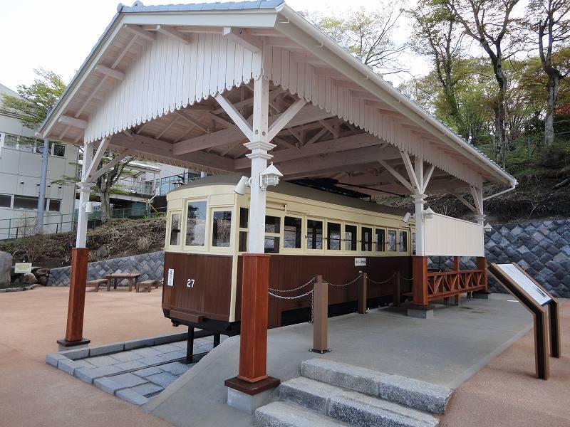 「峠の公園」完成!「路面(チンチン)電車」の展示が始まりました!
