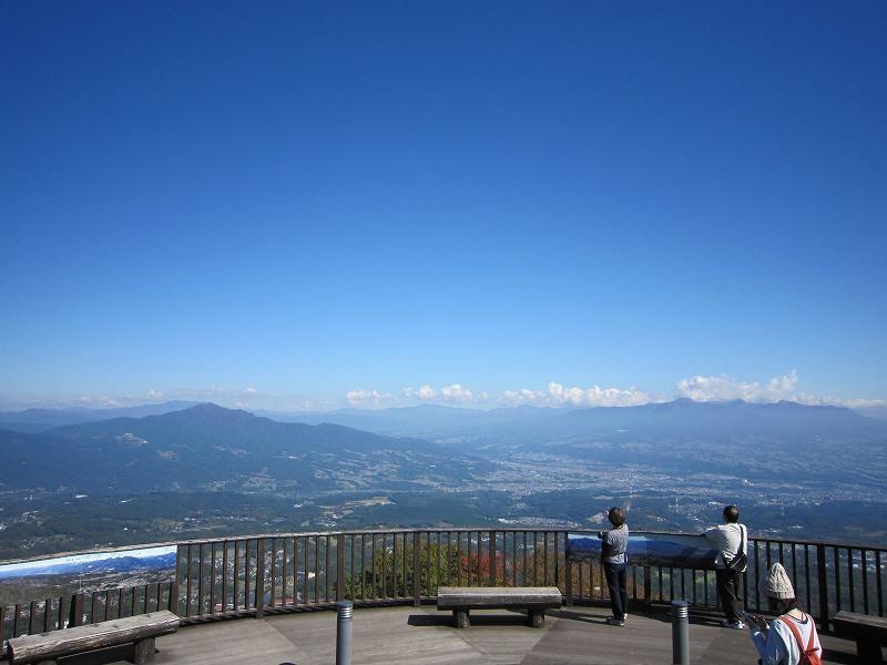 『上ノ山公園の紅葉』と『ときめきデッキからの眺望』